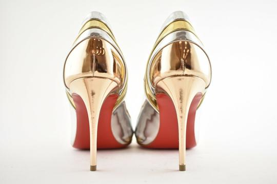 Christian Louboutin Pigalle Stiletto Classic Ankle Strap Drama silver Pumps Image 10