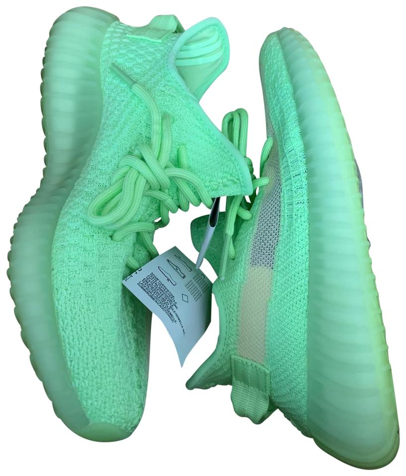 timeless design 8cdd5 1c3a3 adidas X Yeezy Lime Green Glow In The Dark Boost 350 V2 Sneakers Size US 6  Regular (M, B)