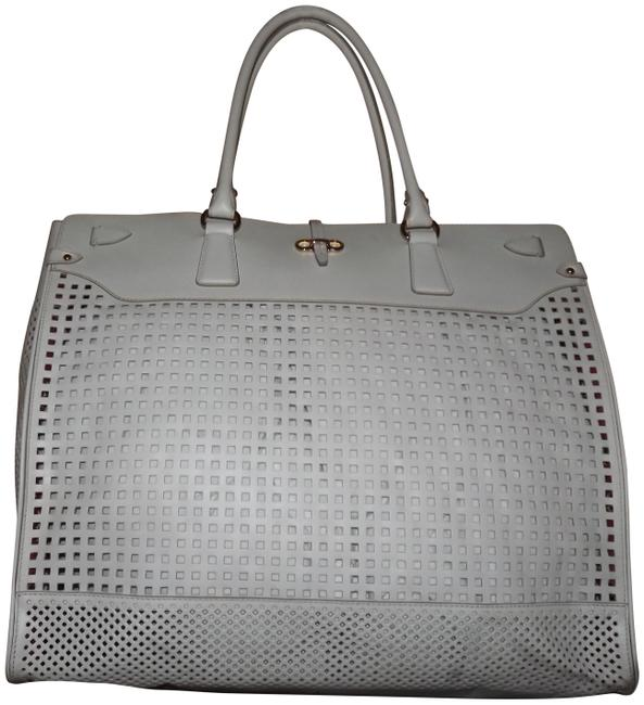Item - Perforated Large Briana White Leather Tote