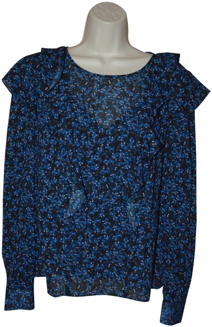 Preload https://img-static.tradesy.com/item/25569900/parker-blue-zuri-print-long-sleeve-blouse-size-4-s-0-1-650-650.jpg