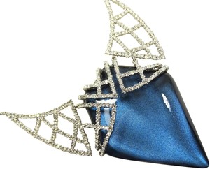 Alexis Bittar ALEXIS BITTAR Blue Lucite & Clear Crystal Pendant Necklace