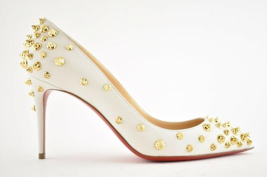 Christian Louboutin Pigalle Stiletto Classic Ankle Strap Drama white Pumps Image 1