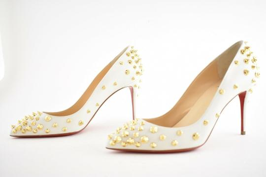 Christian Louboutin Pigalle Stiletto Classic Ankle Strap Drama white Pumps Image 8