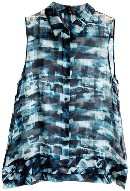 Preload https://img-static.tradesy.com/item/25570003/theory-blue-sheer-sleeveless-silk-blouse-size-12-l-0-1-650-650.jpg