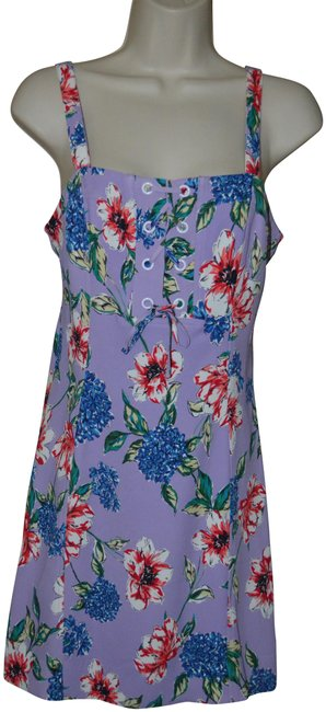 Preload https://img-static.tradesy.com/item/25570004/parker-purple-floral-strappy-mid-length-short-casual-dress-size-6-s-0-1-650-650.jpg