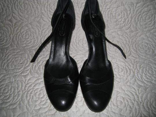 Coach Black and Navy Blue Pumps Image 6