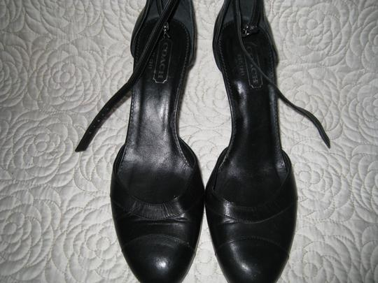 Coach Black and Navy Blue Pumps Image 8