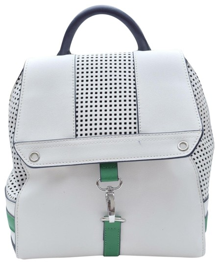 Preload https://img-static.tradesy.com/item/25570057/danielle-nicole-perforated-white-green-navy-faux-leather-backpack-0-1-540-540.jpg