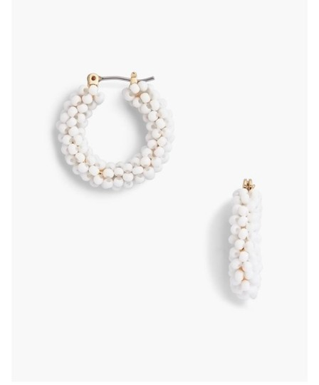 Preload https://img-static.tradesy.com/item/25570068/talbots-white-beaded-hoop-earrings-0-0-540-540.jpg