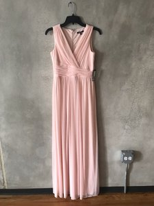 Onyx Nite Pink/Blush Chiffon Formal Bridesmaid/Mob Dress Size 2 (XS)