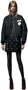 Alexander Wang Grommet Embellished Edgy Bomber Leather Military Jacket