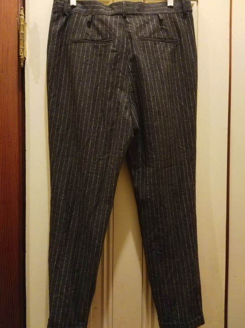 Eleventy Trouser Pants Charcoal grey white Image 1