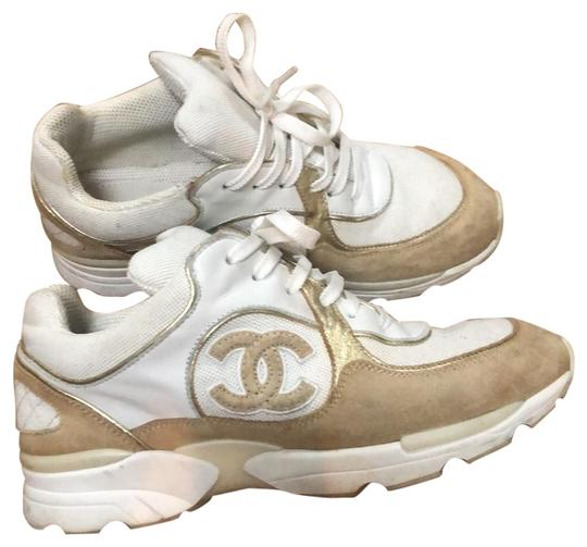 Preload https://img-static.tradesy.com/item/25570294/chanel-white-and-gold-sneakers-size-us-5-regular-m-b-0-1-540-540.jpg