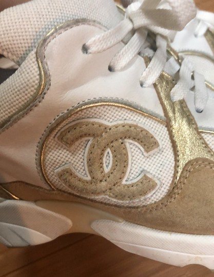 Chanel white and gold Athletic Image 6