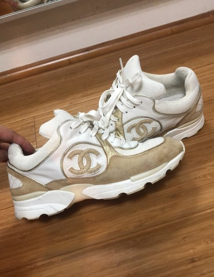 Chanel white and gold Athletic Image 9