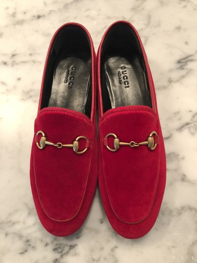 Gucci Red / Hibiscus Red Flats Image 3