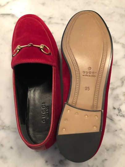 Gucci Red / Hibiscus Red Flats Image 4
