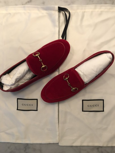 Gucci Red / Hibiscus Red Flats Image 6
