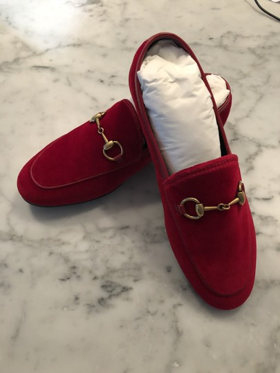 Gucci Red / Hibiscus Red Flats Image 8