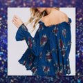 Other Bell Sleeve Off Shoulder Bohemian Ruffle Loose Tunic Image 1