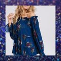 Other Bell Sleeve Off Shoulder Bohemian Ruffle Loose Tunic Image 2