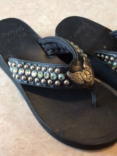 Cowgirl Jewels Black Sandals Image 2
