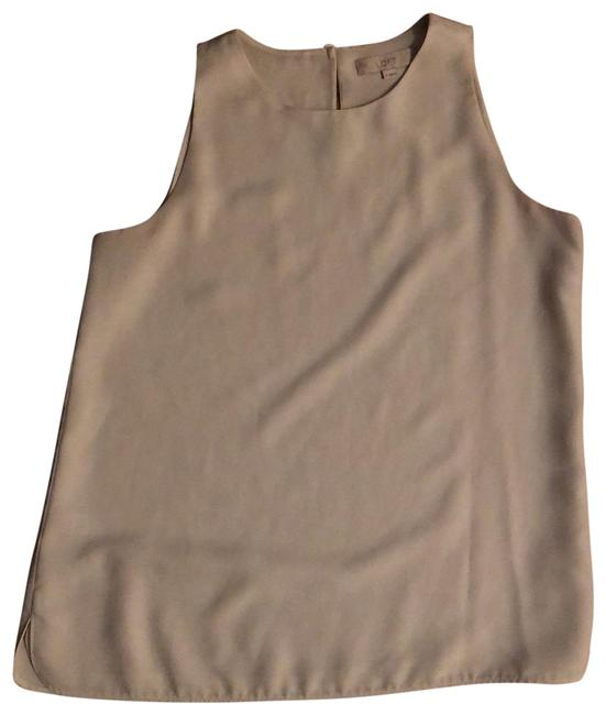 Item - Light Beige Layered Sleeveless Tunic Size 8 (M)