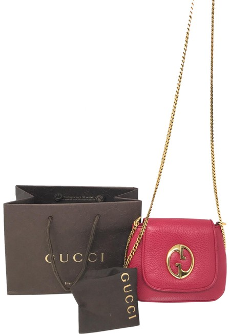 Item - 1973 Chain Strap Purse Red Leather Cross Body Bag