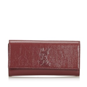 Saint Laurent 9fyscl001 Vintage Ysl Patent Leather Red Clutch