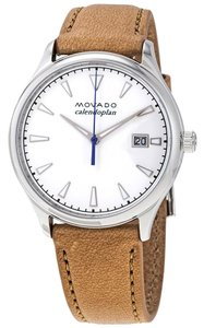 Movado Heritage Stainless Steel Leather Quartz Round Ladies Watch