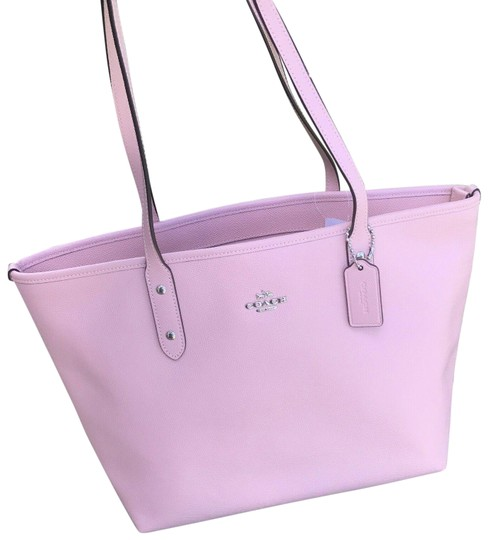 Preload https://img-static.tradesy.com/item/25570942/coach-shoulder-bag-petal-city-crossgrain-zip-top-f58846-pink-leather-tote-0-1-540-540.jpg