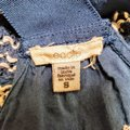 Anthropologie Festival Boho Cropped Knit Embroidered Top Blue, White Image 5