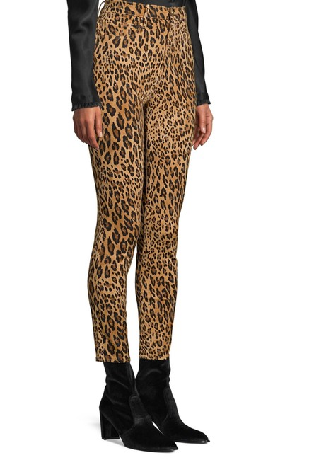 Item - Leopard Print Medium Wash Ali Sigarette Skinny High Rise Boot Cut Jeans Size 8 (M, 29, 30)