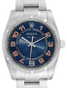 Rolex Rolex Air King Gators Blue Concentric Dial Steel Mens Watch 114210