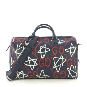 Gucci Convertible Duffle Satchel in blue