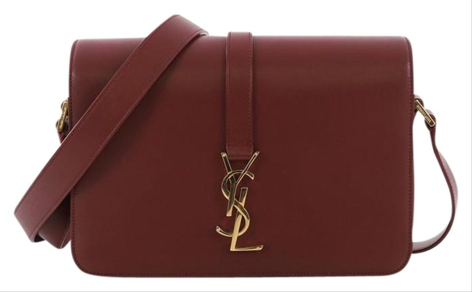 dd16b05d6f8 Saint Laurent Monogram Université Classic Medium Dark Red Leather Cross  Body Bag