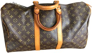 Louis Vuitton 45 Lv Keepall 45 Lv Boston Keepall Lv Keepall 50 Brown Monogram Travel Bag