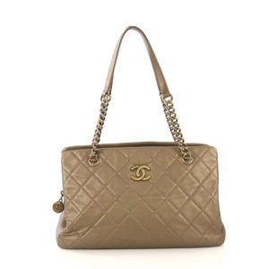 Chanel Crown Tote in dark gold