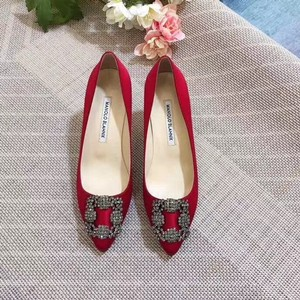Manolo Blahnik Red Mules/Slides Size US 6 Regular (M, B)