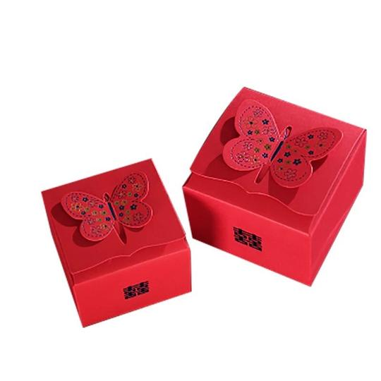Red 50 Wedding Favor Box Image 0
