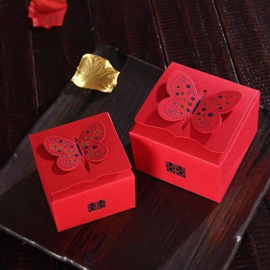 Red 50 Wedding Favor Box Image 1