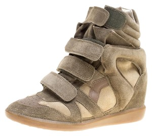Isabel Marant Suede Wedge Green Flats