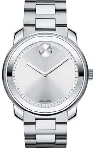 Movado Bold Stainless Silver Dial Mens 3600257