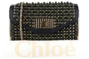 Chloé Beaded Leather Evening Clutch Chain Shoulder Bag