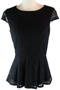 Guess By Marciano Cut Outs Short Sleeve Women Sexy Top Black