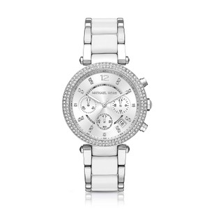 Michael Kors NWT Michael Kors Women's Parker White Chronograph Watch