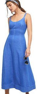 Blue Maxi Dress by Mauve Anthropologie Maxi Elseby Lace-up Anthropologiedress