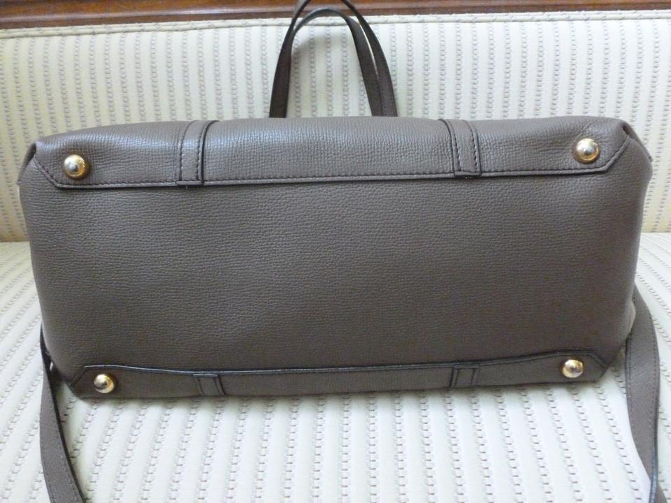 87afc0c56b911 Burberry Mason Taupe House Check and Leather Diaper Bag - Tradesy