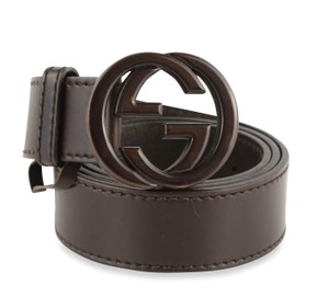 Gucci Gucci Leather GG Buckle Belt