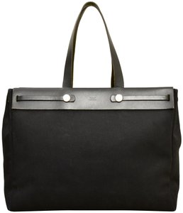 Hermès Herbag Her Shopper Tote in Black